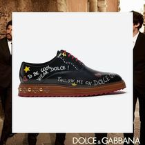 Dolce & Gabbana Heart Star Leather Oxfords