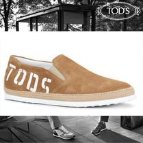 TOD'S Suede Plain Loafers & Slip-ons