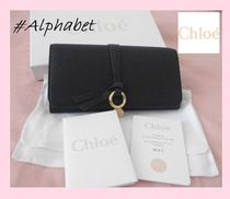 Chloe Calfskin Plain Long Wallets