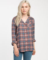RVCA Tartan Casual Style Street Style Long Sleeves Medium