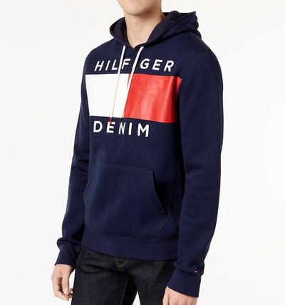 Tommy Hilfiger Hoodies Street Style Long Sleeves Cotton Logos on the Sleeves 5