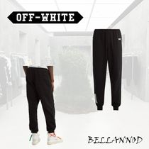 Off-White Tapered Pants Street Style Plain Cotton Tapered Pants