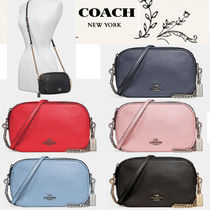 Coach 2WAY Plain Leather Party Style Party Bags