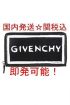 GIVENCHY Unisex Calfskin Street Style Bi-color Plain Long Wallets