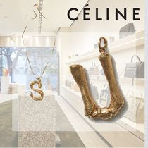 CELINE Casual Style Initial Brass Necklaces & Pendants