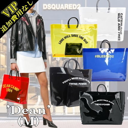 Casual Style Street Style A4 PVC Clothing Oversized Handbags