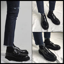 ASCLO Monk Casual Style Street Style Leather Shoes
