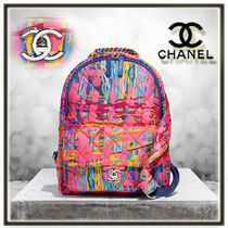 CHANEL Casual Style A4 Backpacks