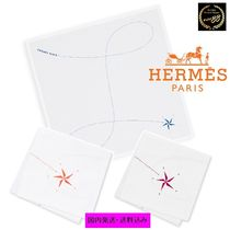 HERMES Star Unisex Cotton Handkerchief