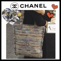 CHANEL ICON Casual Style Unisex A4 Totes