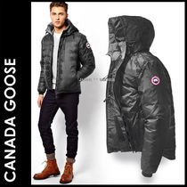 CANADA GOOSE Short Fur Plain Down Jackets
