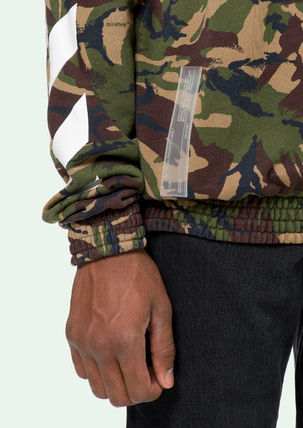 Off-White Sweatshirts Crew Neck Pullovers Camouflage Long Sleeves Cotton Oversized 5