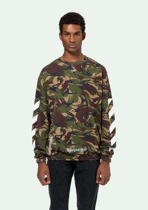 Off-White Sweatshirts Crew Neck Pullovers Camouflage Long Sleeves Cotton Oversized 6