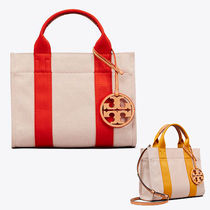 Tory Burch Casual Style Canvas A4 Plain Totes