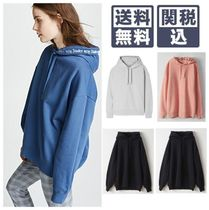 Acne Casual Style Long Sleeves Plain Cotton Hoodies & Sweatshirts