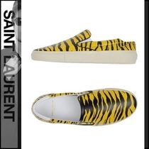 Saint Laurent Zebra Patterns Plain Toe Street Style Leather