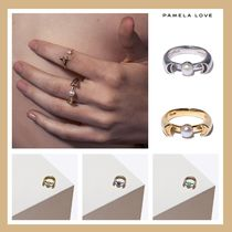 Pamela Love Costume Jewelry Casual Style Blended Fabrics Silver Rings