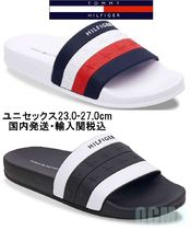 Tommy Hilfiger Open Toe Casual Style Unisex Street Style Shower Shoes