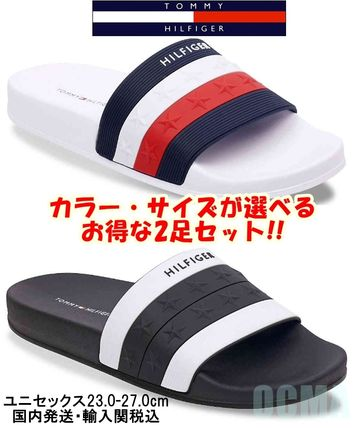 Tommy Hilfiger Flat Star Open Toe Casual Style Unisex Shower Shoes Co-ord