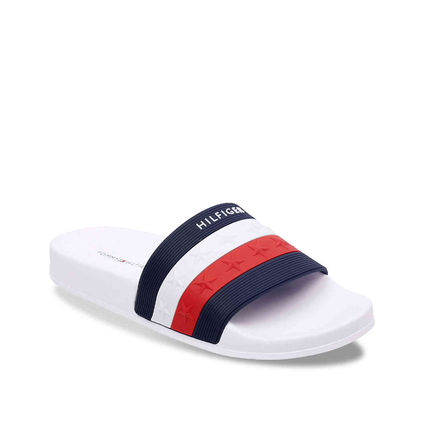 Tommy Hilfiger Flat Star Open Toe Casual Style Unisex Shower Shoes Co-ord 2