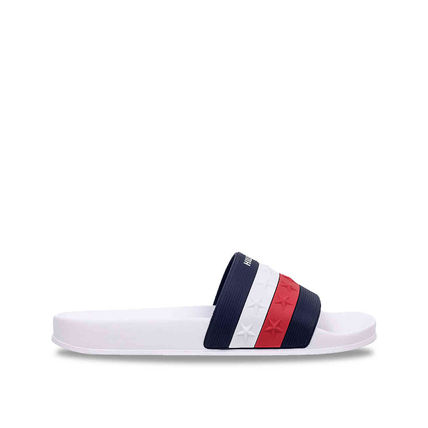 Tommy Hilfiger Flat Star Open Toe Casual Style Unisex Shower Shoes Co-ord 4
