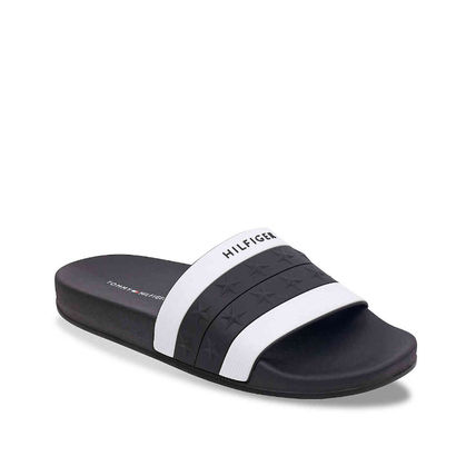 Tommy Hilfiger Flat Star Open Toe Casual Style Unisex Shower Shoes Co-ord 7