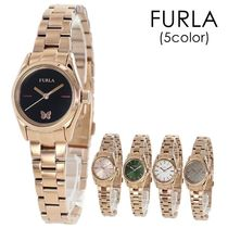 FURLA Casual Style Round Party Style Quartz Watches Stainless