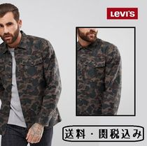 Levi's Camouflage Long Sleeves Cotton Shirts