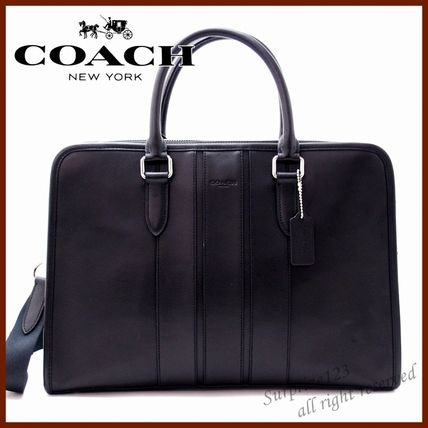 91bdd7ab6a ... Coach Business   Briefcases Stripes A4 2WAY Plain Leather Business    Briefcases ...