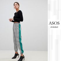 ASOS Stripes Other Check Patterns Casual Style Pants