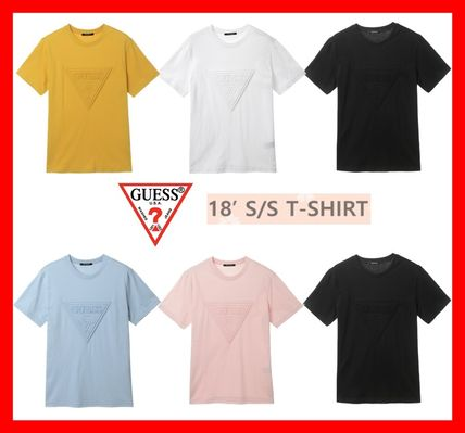 81d02610e316 ... Guess More T-Shirts Unisex Street Style U-Neck Cotton Short Sleeves T-  ...