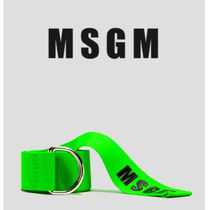 MSGM Casual Style Street Style Plain Belts
