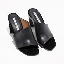 & Other Stories Square Toe Plain Leather Elegant Style