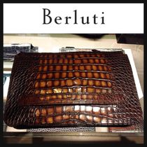 Berluti Crocodile Bag in Bag Other Animal Patterns Python Clutches