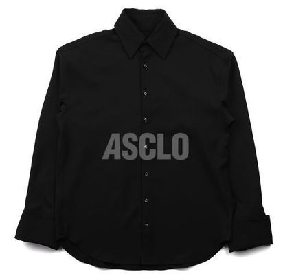 ASCLO Shirts Long Sleeves Plain Oversized Shirts 18