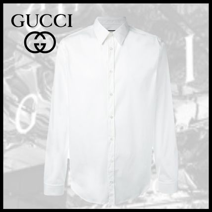 a7f3eb5cab9 GUCCI Long Sleeves Plain Shirts by Celebrity Co - BUYMA