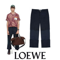 LOEWE Street Style Plain Cotton Cropped Pants