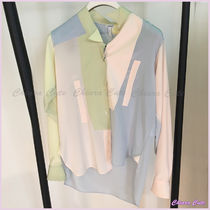 LOEWE Long Sleeves Plain Medium Elegant Style Shirts & Blouses