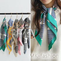 NANING9 Stripes Paisley Office Style Lightweight Scarves & Shawls