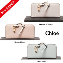Chloe Calfskin Tassel Plain With Jewels Long Wallets