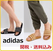 adidas Stripes Casual Style Street Style Sandals