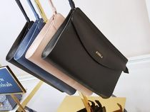 FURLA Casual Style Plain Leather Clutches