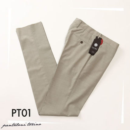 Tapered Pants Wool Plain Tapered Pants