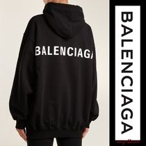 BALENCIAGA Unisex Street Style Long Sleeves Plain Cotton Oversized