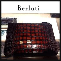 Berluti Crocodile Bag in Bag Plain Clutches