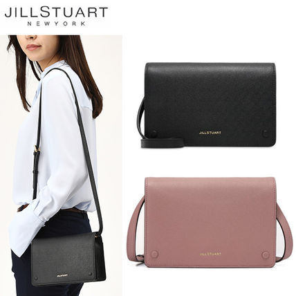 Jillstuart Shoulder Bags Street Style Plain Leather Office