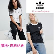 adidas Short Casual Style Unisex Street Style U-Neck Plain Cotton