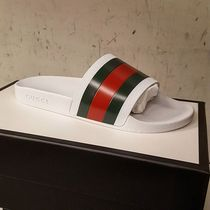 GUCCI Stripes Blended Fabrics Street Style Plain Shower Shoes