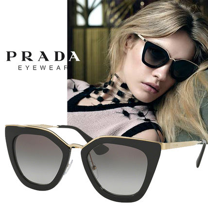 7210aeebc337f PRADA Unisex Cat Eye Glasses Sunglasses (PR53SS 1AB0A7) by ...