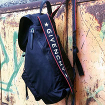 GIVENCHY Nylon A4 Plain Backpacks